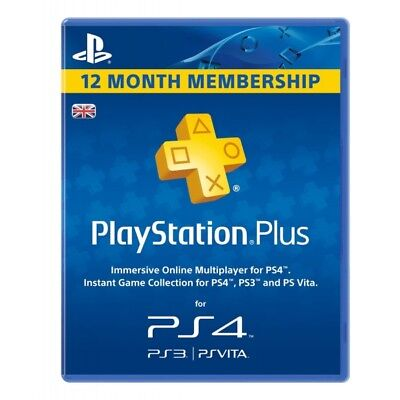 PlayStation Plus Code- 365 Days-PS Plus PlayStation 4-Online Gaming - 12 months