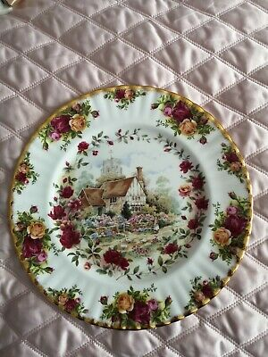 ROYAL ALBERT OLD COUNTRY ROSES  WALL or CAKE PLATE 26 Cm  COTTAGE GARDEN