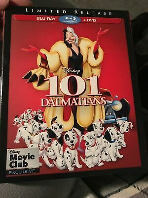 BRAND NEW 101 Dalmatians (Blu-ray/DVD) Disney LIMITED RELEASE WITH Slipcover