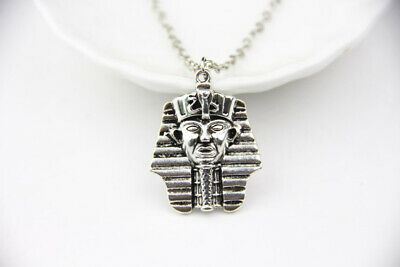 Silver Pharaoh Sphinx Necklace Ancient Egypt Egyptian
