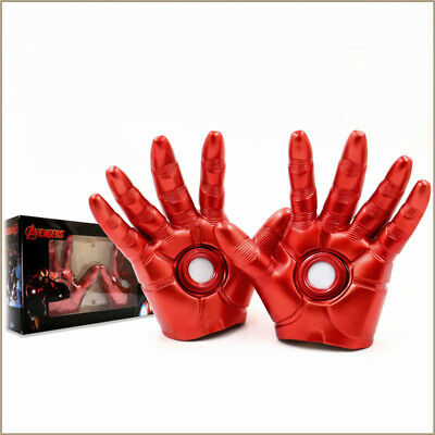Avengers Iron Man Teenager Light Red Gloves 1 Pair 19cm Cosplay Prop Cos Marvel