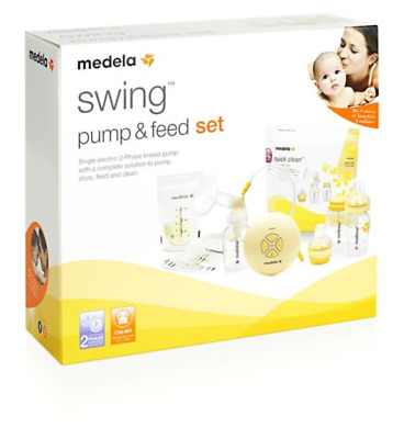 New Medela Swing Electric Breast Pump with Calma Pump & Feed Set - RRP  £129.99