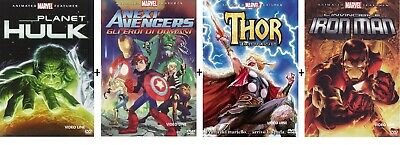 Dvd MARVEL Planet Hulk / Next avengers / Thor Tales of Asgard / Iron Man (4 DVD)