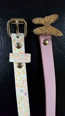 2 x Young Girls Belts (Approx 27ins)