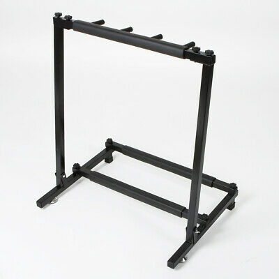 Multiple 3 Guitar Holder Rack Stand Folding Organizer Stage Triple Bass Acoustic