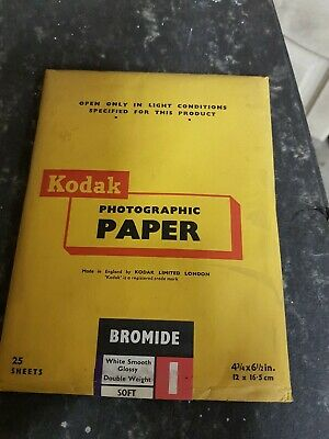 Vintage Kodak Photographic paper White smooth glossy  25 sheets
