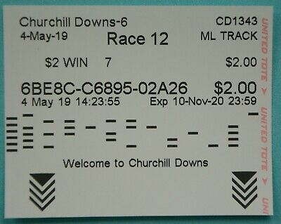2019 MAXIMUM SECURITY $2 Win Ticket (#7) for Controversial Kentucky Derby 145