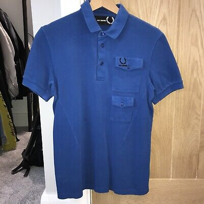 ef4866415 Raf Simons X Fred Perry Polo Shirt Blue Size 36 (Small) See Description