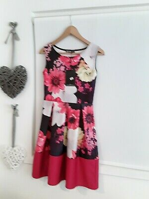 Pretty *Miss Look* Pink Floral Dress Size 10 New With Tags
