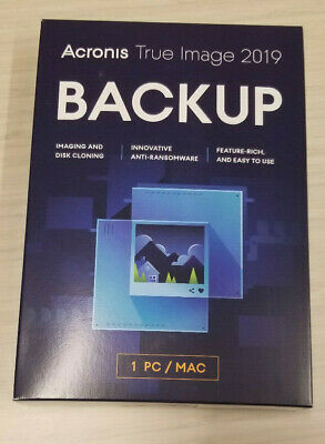 Acronis True Image 2019 1 Device ( PC/MAC/ Computer ) New Sealed Box Ships 3 Day