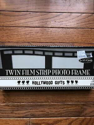 Twin Film Strip Photo Frame, movie collectible, holds 2 photos measuring 3.5 by5