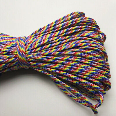 550 Paracord Parachute Cord Lanyard Mil Spec Type III 7 Strand Core 25FT HOT34