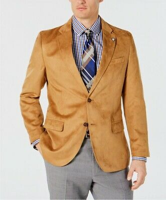 Nautica Men's Modern-Fit Faux-Suede Sport Coat / Suit Jack 36 Regular *Brand New