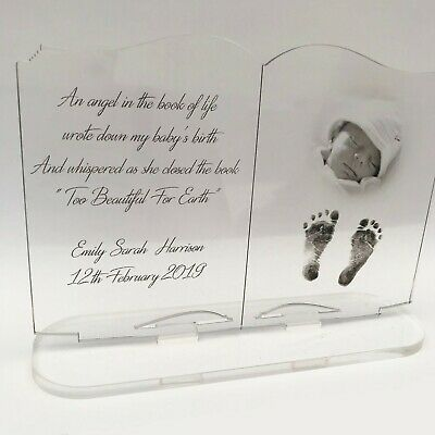 Personalised Photo Acrylic Freestanding Baby Loss Book Stillborn Miscarriage