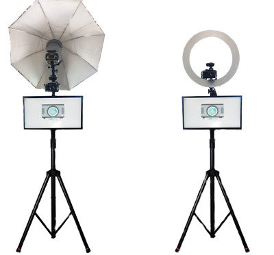 Simple Photo Booth - Touch screen photo booth with flash or ring light.
