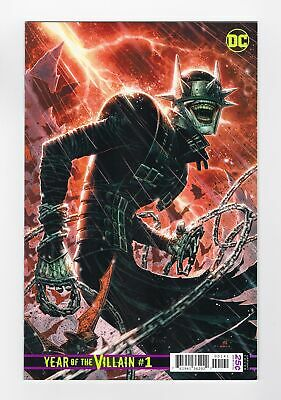Dcs Year Of The Villain #1 1:500 Jim Cheung Variant Batman Who Laughs Cover 2019