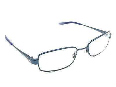 2d9d7475c1a9 NIKE 4637 427 Blue Rectangular Rx Eyeglasses Frames Flexon Bridge 48-17 130
