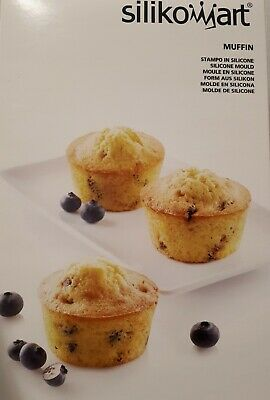 Silikomart Muffin Stampo In Silicone 100%Platinum Made In Italy
