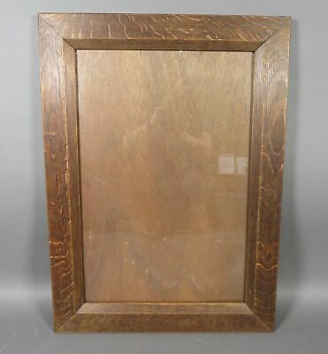 "Vintage Arts & Crafts Mission Solid Oak Wooden 24"" x 16"" Photo Picture Frame"