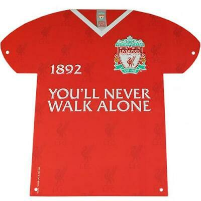 Liverpool Fc Ynwa Metal Shirt Shaped Sign - Official Gift