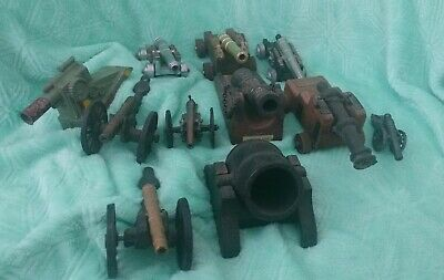 Cannon Lot Vintage Brass Cast Iron And Wood Civil War Spain