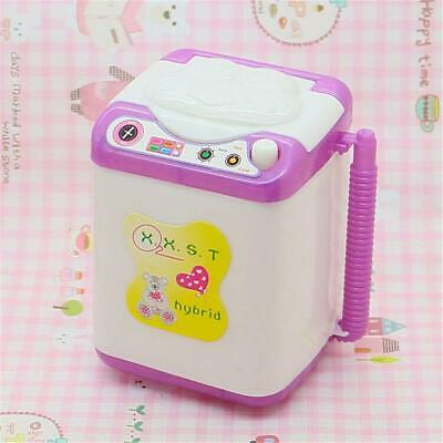 Mini Dollhouse Washing Machine Toy Doll House Furniture Gift Accessories Plastic