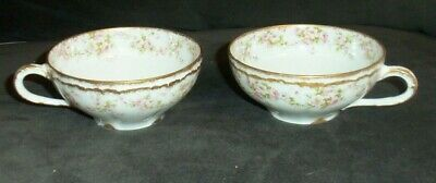 2 Pieces Of Haviland Limoges SCHLEIGER 844 Roses Double Gold TEA CUPS ONLY