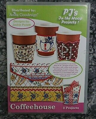 Anita Goodesign Coffee House Embroidery Design CD ,sealed