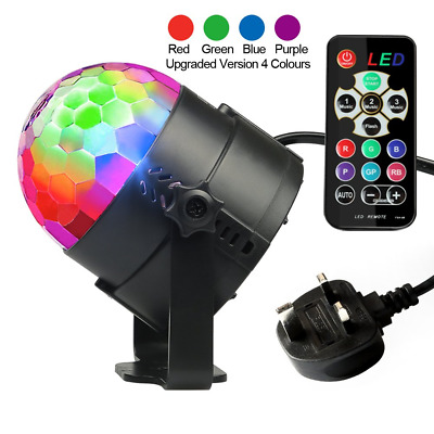 Disco Lights, Disco Ball Lights Upgraded 4 Colours RGBP Party Lights Strobe by