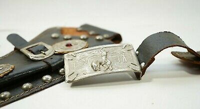 Vintage Lone Ranger Cap Gun Single Holster and Belt buckle Please see all pictur