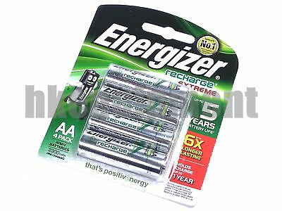 Energizer extreme Rechargeable AA NH15E RP4 LR6 2300 mAh NiMH 1.2v Battery x4
