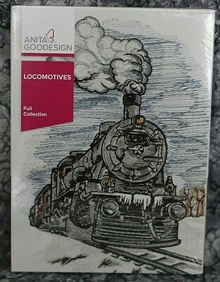 Anita Goodesign Locomotives Embroidery Design CD ,sealed
