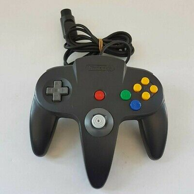 Genuine Nintendo 64 Controller Black N64 - Good Condition. 7/10 Toggle strength.