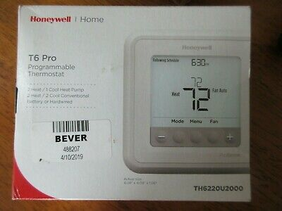 HONEYWELL TH6220U2000 - T6 Pro Programmable Thermostat, 2