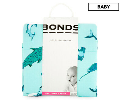 Bonds 91x73cm Stretchies Quilted Play Mat - Ocean Print
