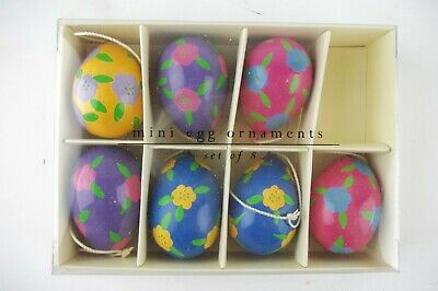 Set of 7 Mini Easter Egg Ornaments for Tree or Decoration, from Pier 1 Imports