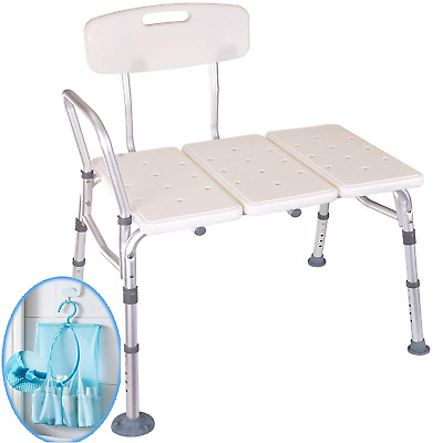 Medokare Shower Transfer Bench Seat – Over Tub Transfer Bench Shower Chair for