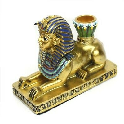 Candle Holder Resin Egypt Anubis God Ancient Deity Stand Candlestick Home Office