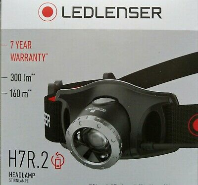 New Genuine Led Lenser H7R.2 Latest Model Headlamp 300 lumens Australian Stock