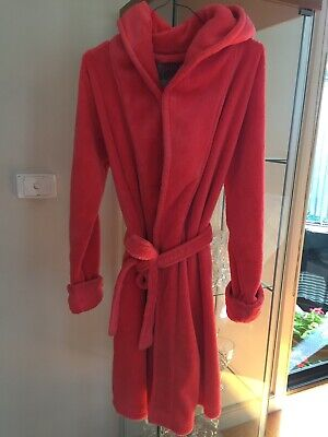 Cotton On Luxe Plush Dressing Gown Size S/M 10 12 Coral Excellent Condition
