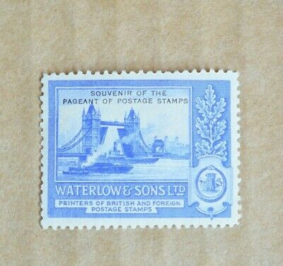 1932 Waterlow & Sons Pageant Of Postage Stamp Printers Cinderella Stamp M/UH