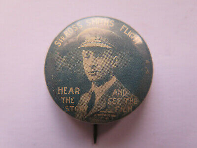 SIR ROSS SMITH'S FLIGHT TINNIE or BADGE c1920 HEAR the STORY & SEE the FILM
