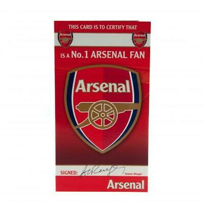 Arsenal FC Birthday Card No 1 Fan With Envelope Present Gunners New Xmas Gift