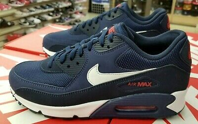 newest 6d2ec 173f5 Nike Air Max 90 Essential Men s Midnight Navy   White Aj1285 403