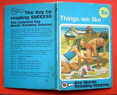Things We Like vintage Ladybird book 3a Key Words Reading Scheme early learning