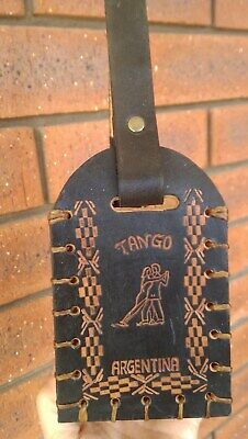 "Wine bottle carrier/holder for single wine bottle 100% leather ""Argentine Tango"""