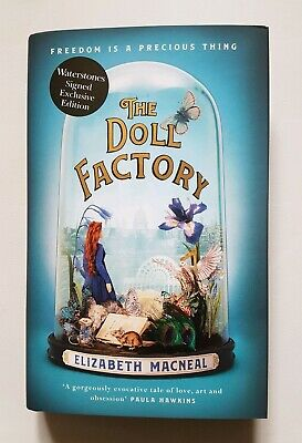 THE DOLL FACTORY Elizabeth Macneal SIGNED TEAL SPRAYED EDGES 1st - 1st NEW HB