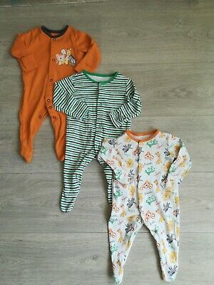 Boys Baby Grows ( George.) 0-3 Months. ( x3.)