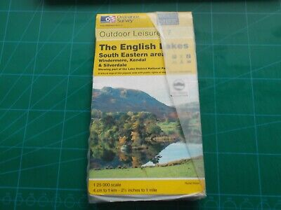 Ordnance Survey Map, Outdoor Leisure Active, 7 - The English Lakes (SE)
