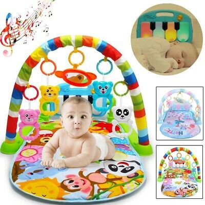 Baby Gym 3 in 1 Activity Floor Play Mat Toys Gym Lights Music Musical Keyboard